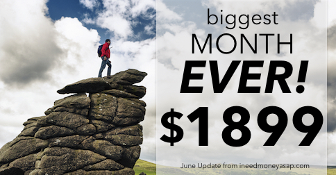 Making Money From Home: June Update $1,899