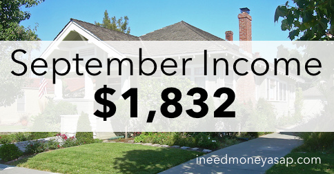 Making Money From Home - September Update $1,832