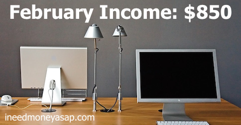 February Income Update - $850 - Flickr - blupics v2 - Small